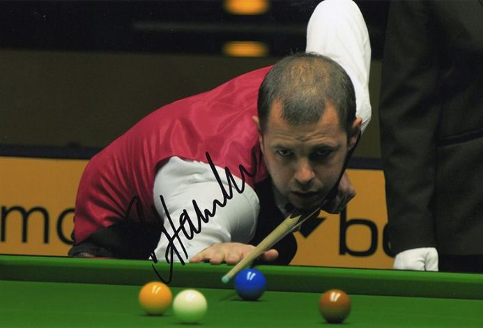 Barry Hawkins, signed 12x8 inch photo.